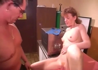 Nasty curly-haired MILF fucking her brother