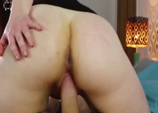 Hairy pussy mommy riding her son's cock