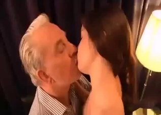 Brown-haired babe fucks her horny dad