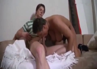 Chubby leathery mommy gets fucked
