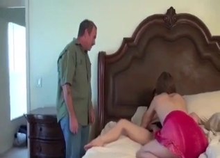 Two slutty chicks enjoying incest sex