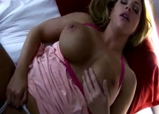Nighttime POV blowjob from a blonde