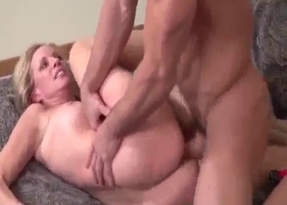 Nasty sex with a blond-haired MILF