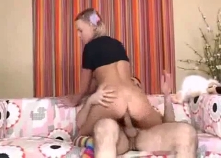 Intense sex with a blond-haired beauty