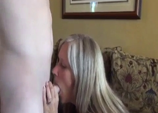 Blonde enjoys incest sex with her boy