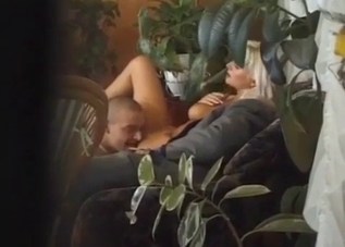 Tanned blonde fucks her dad and brother