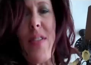 Redheaded mommy sucking in POV