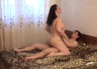Curly-haired bitch ruined by her son