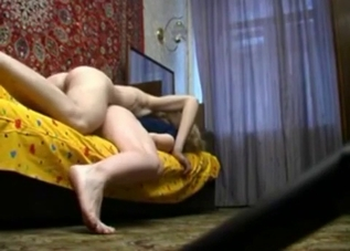 Thick blonde passionately riding it