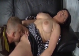 Brunette fucking her mature brother