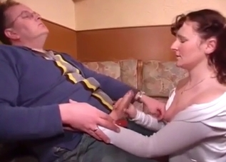 Mother and daughter blow daddy