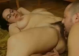 Chubby bitch fucking her older brother