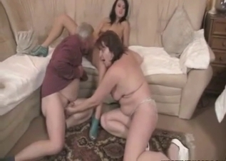 Kinky couple fucking their daughter