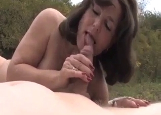 Outdoors incest during a picnic