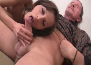 Tanned bitch ruined by her father