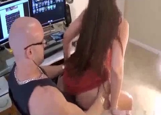Big ass babe rides her brother's cock