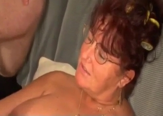 Redheaded leathery MILF fucks her brother