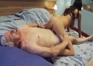 Leggy young broad fucking her daddy