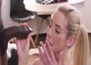 Angelic blonde taking that BBC