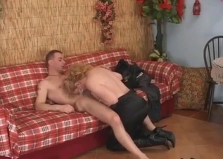 Mommy wants her son's hot cock