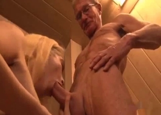 Blonde's only job to service his cock