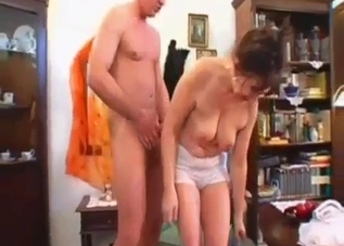 Kinky MILF blows her hung son