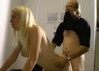 Blonde's pussy gaped in an incest vid