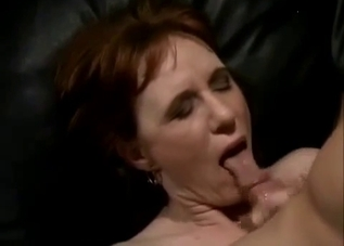 Ponytailed mom rides her son's dick