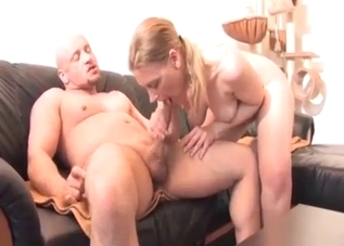 Blondie enjoys doggy style with her relative