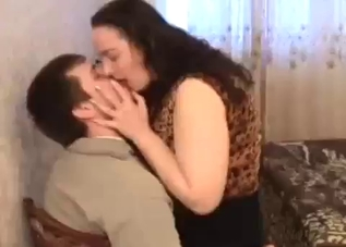 Chubby mommy fucking her hung son