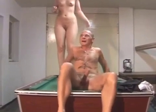 Bad daddy licking his daughter's cunt