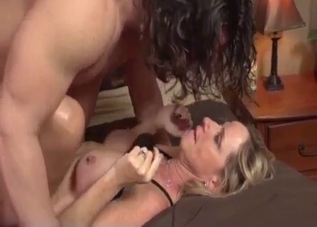 Blonde bangs her Tarzan-looking brother
