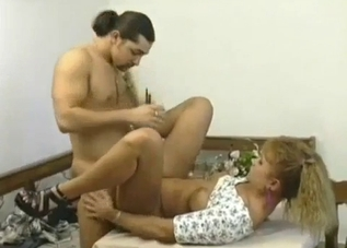 MILF fucked by her beefy hung boy