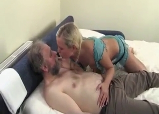 Braided blonde wrecked by her dad